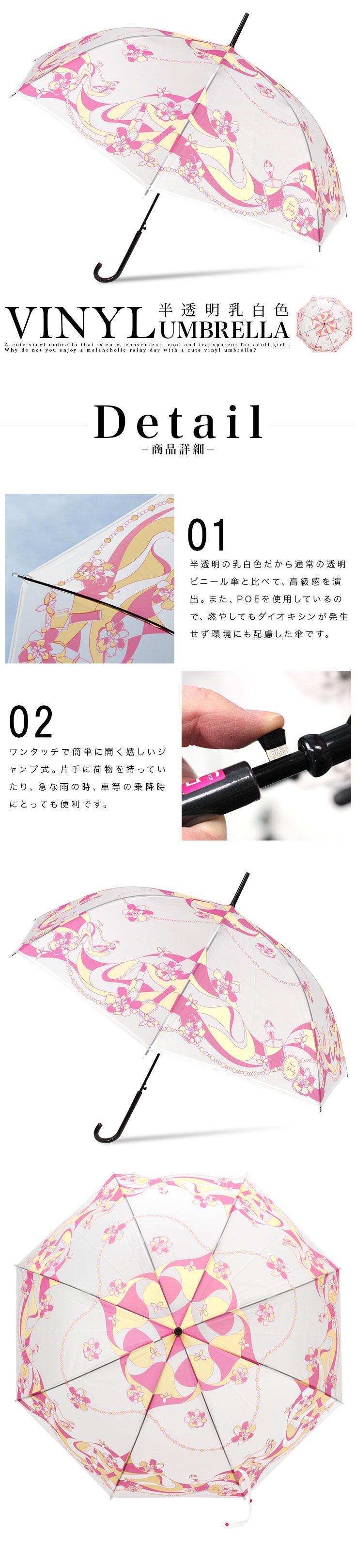 SIZE58cmネコ柄ビニール傘